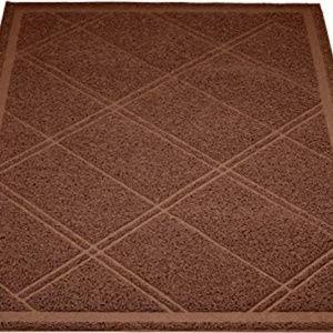 AmazonBasics Cat Litter Box Mat - 24 x 35 Inches,